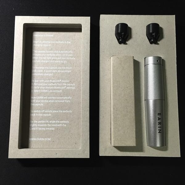 Earin earphones - Packaging unboxed