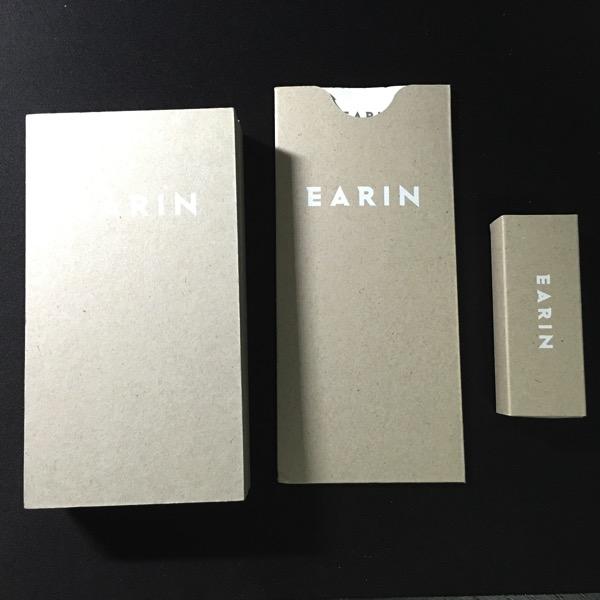 Earin earphones - Packaging