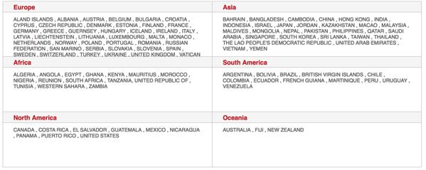 GlocalMe - countries coverage