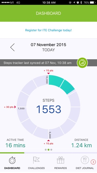 HPB National Steps Challenge - start tracking