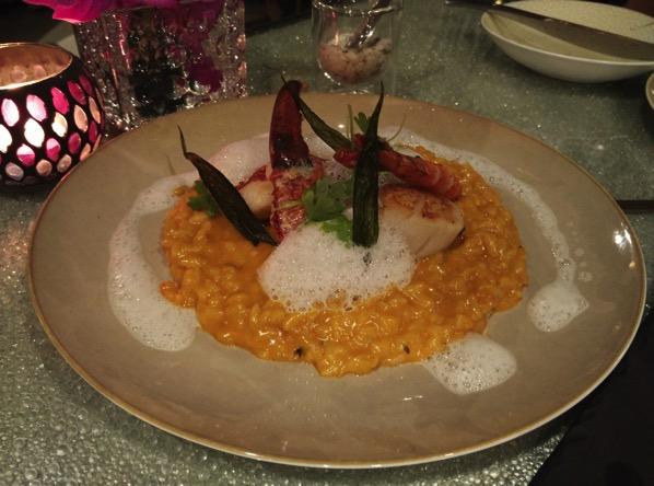 Sofitel Xperience Restaurant & Bar - Lobster, scallop and shrimp laksa risotto