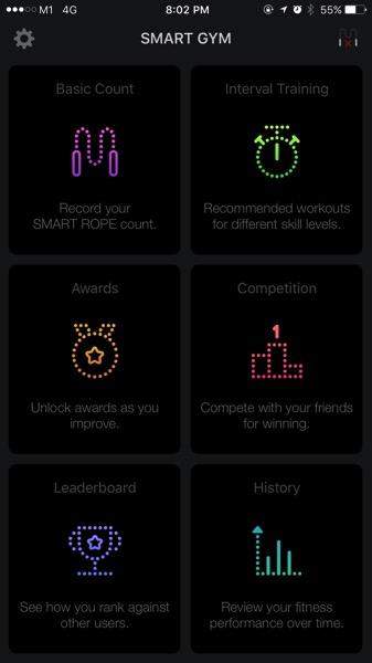 Tangram Smart Rope - app main menu