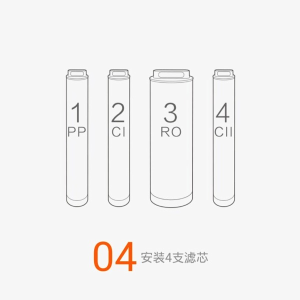 Xiaomi Water Purifier (小米净水器) - assembly steps - Step 4 overview