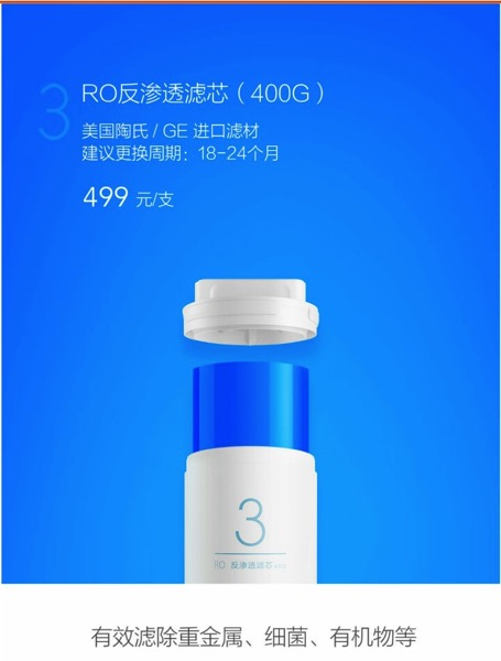 Xiaomi Water Purifier (小米净水器) - filters - Tube 3 (overview)
