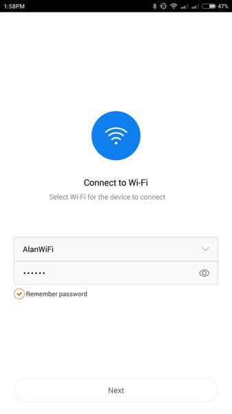 Xiaomi Water Purifier (小米净水器) - home network connection - connect to home wifi