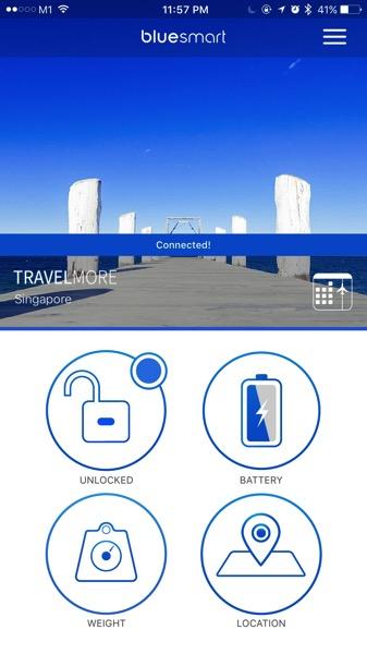 Bluesmart luggage - App console