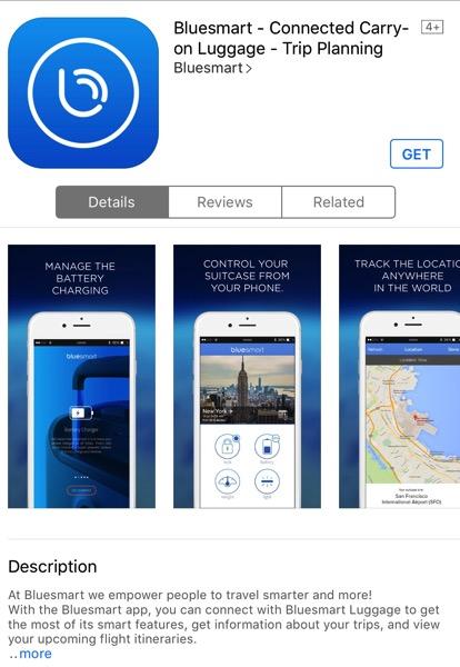 Bluesmart luggage - App download