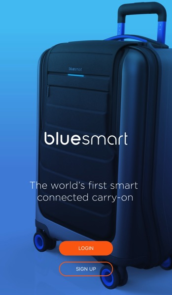 Bluesmart luggage - App login