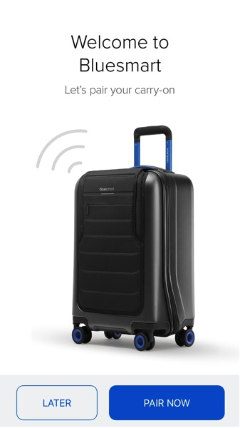 Bluesmart luggage - Pair luggage to phone