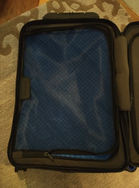 Bluesmart luggage - left compartment