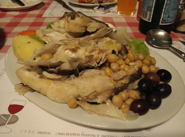 Macau Guide - A Petisqueira Restaurant - boiled codfish head