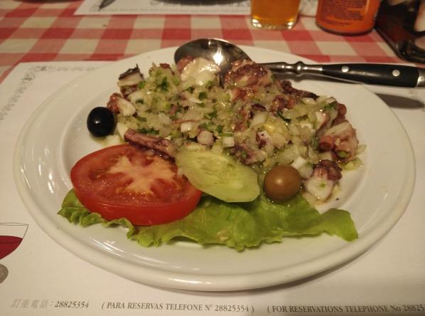 Macau Guide - A Petisqueira Restaurant - octopus salad