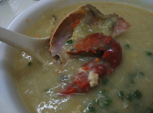 Macau Guide - Seng Cheong Restaurant - Crab Porridge 2