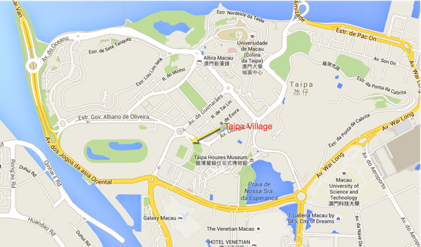 Macau Guide - Taipa Village - Location