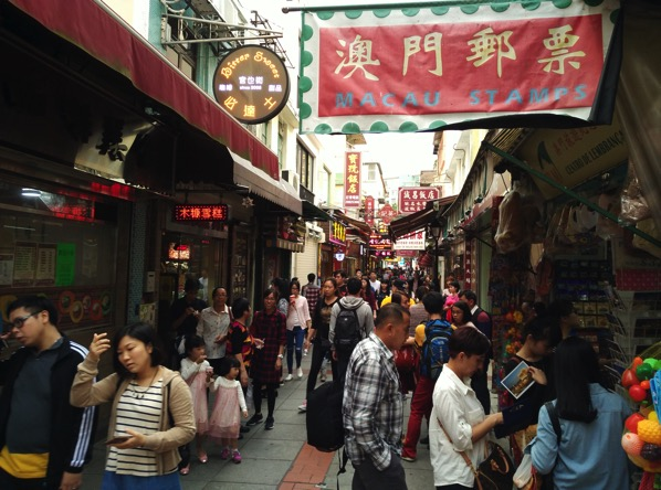 Macau Guide - Taipa Village - shops along the streets