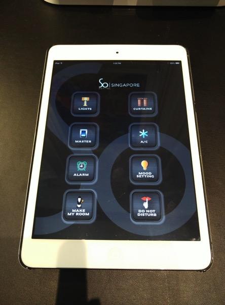 Sofitel So Singapore - Room Controls on iPad