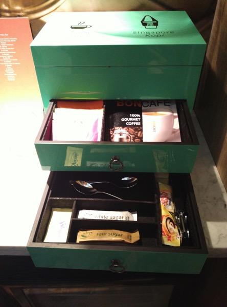 Sofitel So Singapore - items in cabinet 3