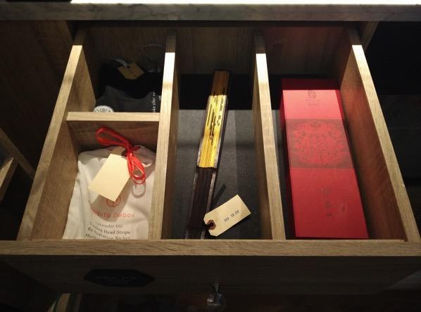 Sofitel So Singapore - items in cabinet