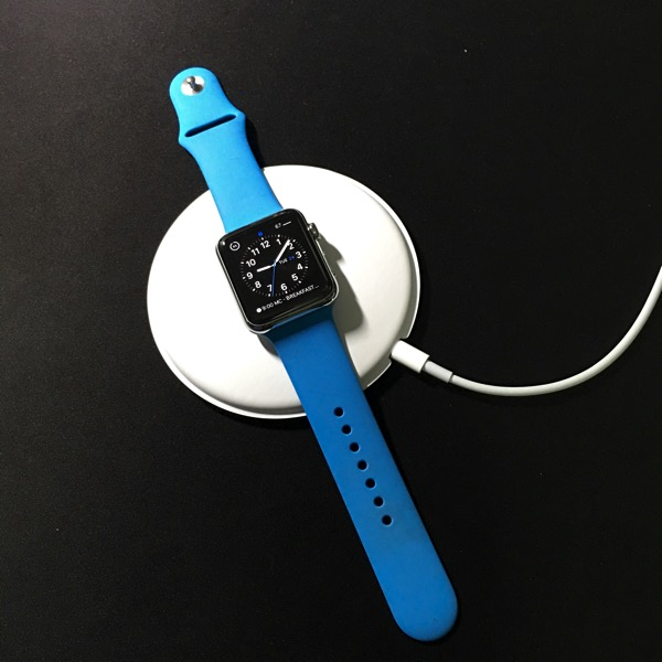 Apple Watch Magnetic Charging Dock - fully laid dock mode