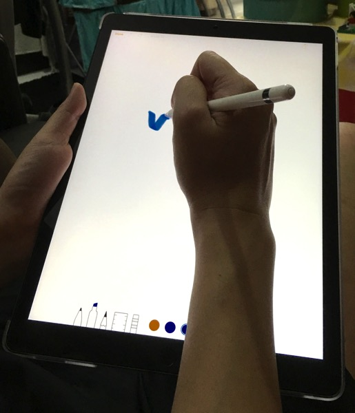 Apple iPad Pro - Apple Pencil - annotate with Notes