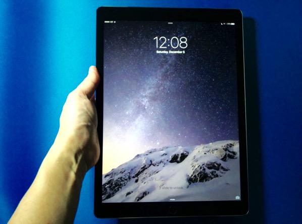 Apple iPad Pro - size on grip