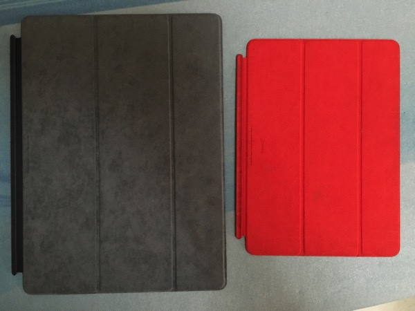 Apple iPad Pro - smart cover - compare with iPad Air smart cover