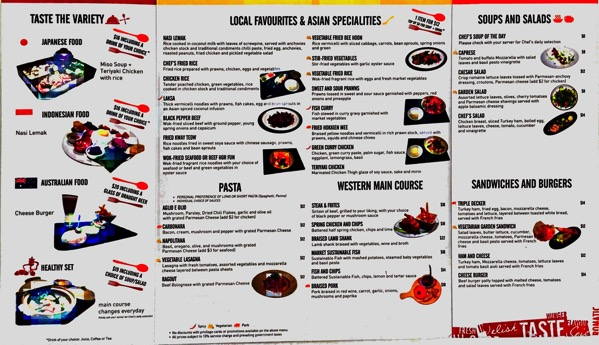 IBIS Singapore Taste Restaurant - Food Menu 1