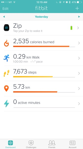 Mi Band Pulse (小米手环光感版) - workout - stats compared with Fitbit Zip