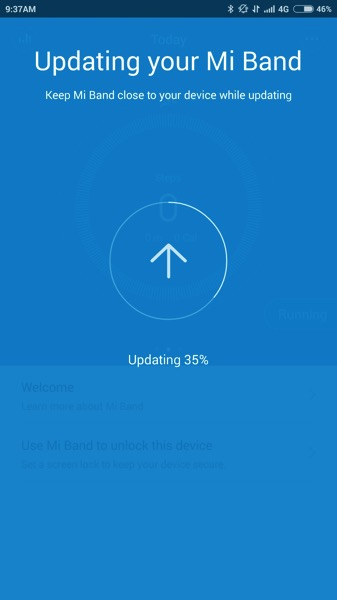 Mi Band Pulse (小米手环光感版) - pairing steps - update firmware