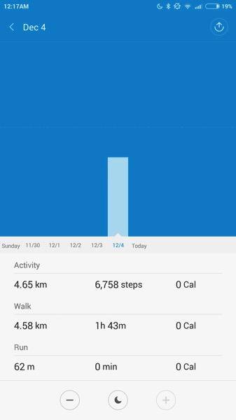 Mi Band Pulse (小米手环光感版) - workout - statistics