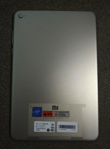 Mi Pad 2 (小米平板2) - back
