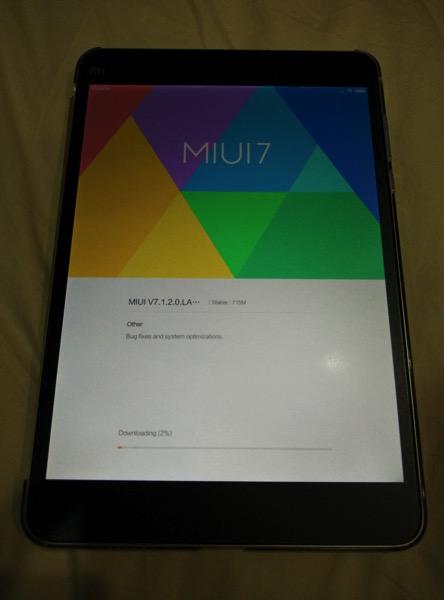 Mi Pad 2 (小米平板2) - begin setup 2