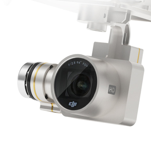 Phantom 3 Advanced - Camera on 3 axis gimbal system