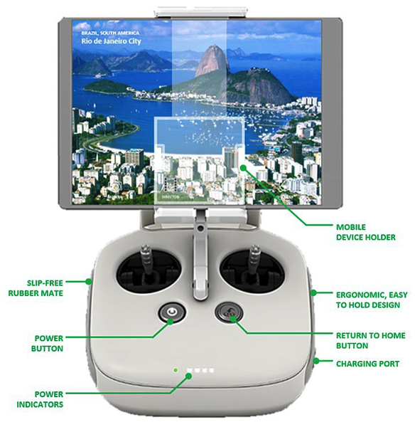 Phantom 3 Advanced-Professional - Remote Controller layout