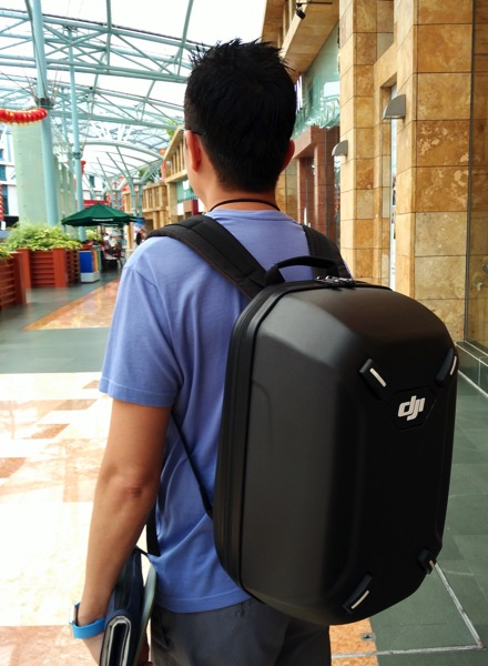 Phantom 3 Advanced - backpack out in action