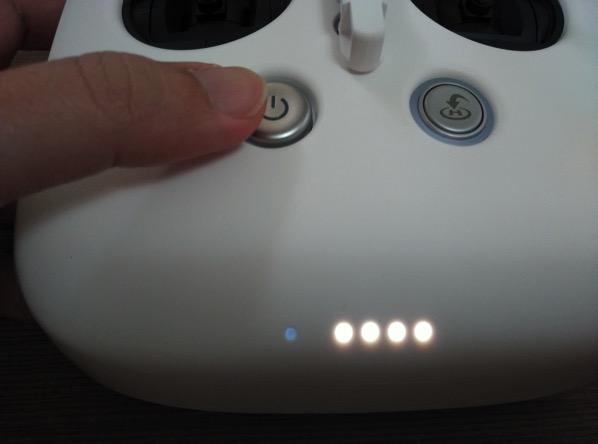 Phantom 3 Advanced - remote RC - turn on or off