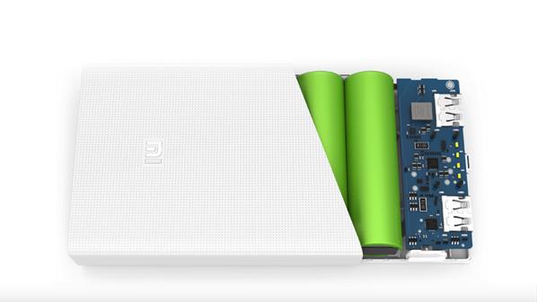 Xiaomi battery bank 20K - Inside view