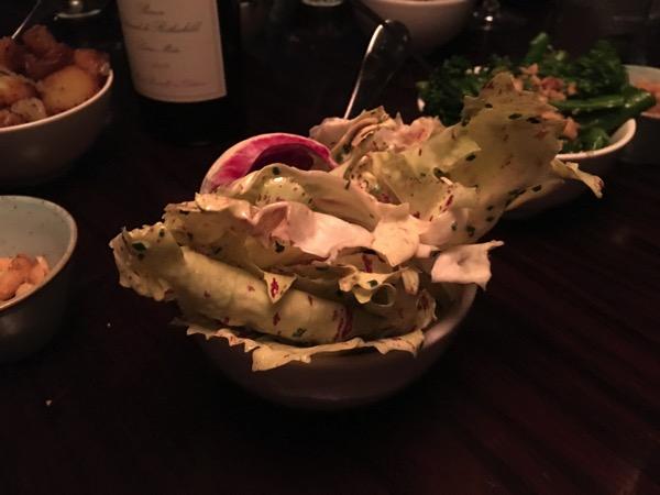 Aquashard - food review - Bitter leaves salad