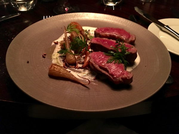 Aquashard - food review - Roasted Cornish lamb loin