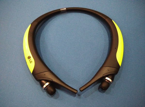e8956b27e25 G TONE Active Premium Wireless Stereo Headset HBS-850 Lime - actual headset