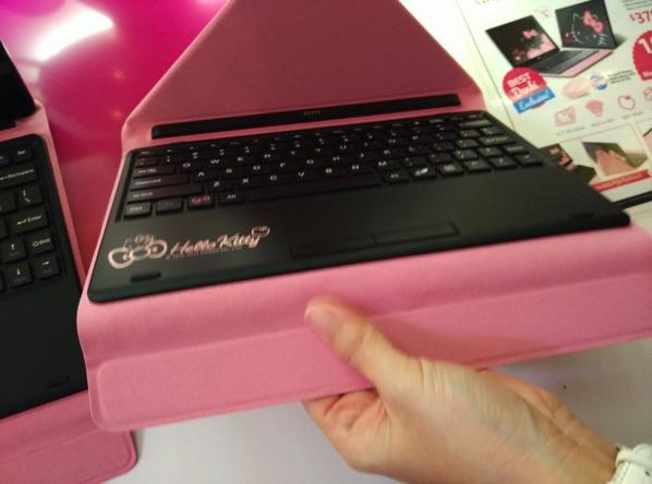 Grace 10 Light Hello Kitty Tablet PC - Pigo keyboard (undocked)