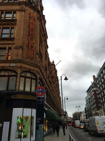 Harrods - on knightbridge street