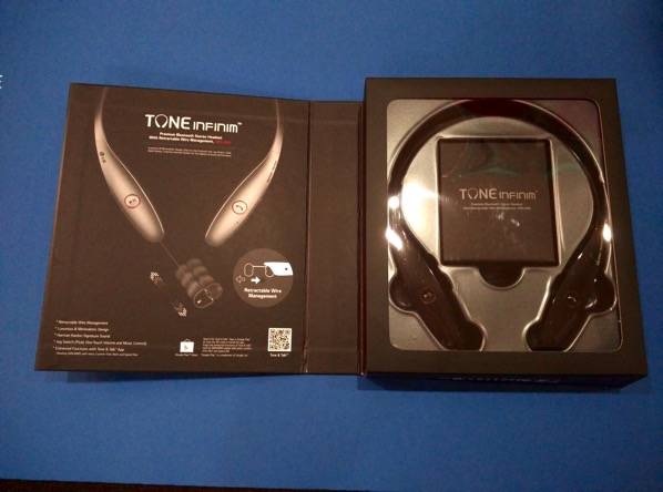 LG TONE INFINIM Wireless Stereo Headset HBS-900 Black - retail packaging (unboxed)