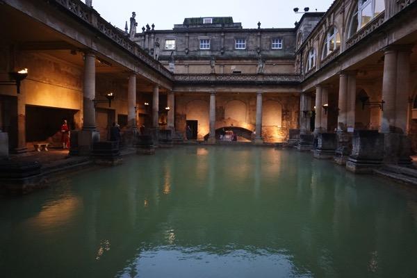 Roman Bath - view from bottom