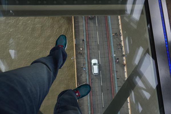 Tower Bridge - looking down the glass floor