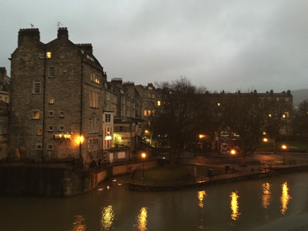 Walk around town of Bath - by the river