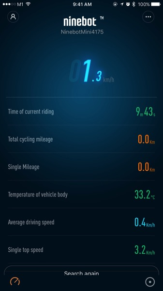 Xiaomi Ninebot (小米九号平衡车) - Ninebot App - realtime device monitoring