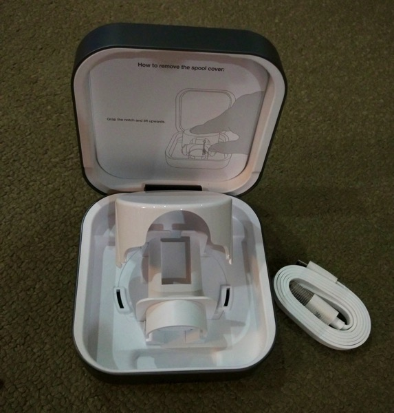 Clearglass Amber Apple Watch Charging Case - unboxed 3