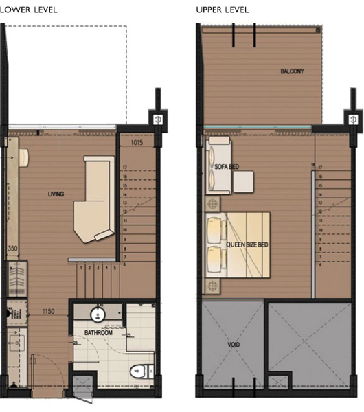 DResort - Beach Cove Duplex room layout