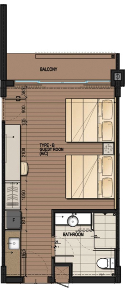DResort - Beach Cove room layout